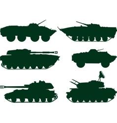 Soviet military vehicles vector