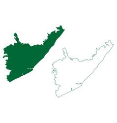 Srikakulam district andhra pradesh state republic vector