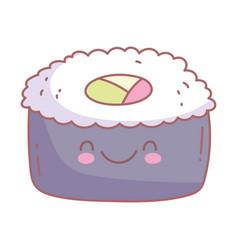 sushi menu restaurant cartoon food cute vector image