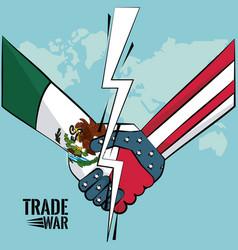 trade war concept vector image