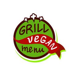 vegan menu logo vector image