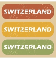 Vintage switzerland stamp set vector
