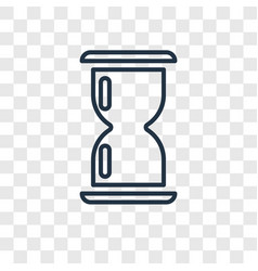 Wait concept linear icon isolated on transparent vector