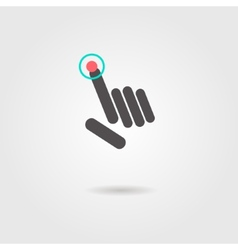 abstract hand presses the button or click icon vector image vector image