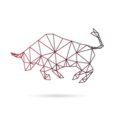 Bull abstract isolated on a white backgrounds vector