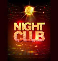 Disco ball background disco poster night club vector