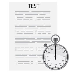 Test exam vector image vector image