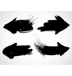 Arrows grunge set vector image vector image