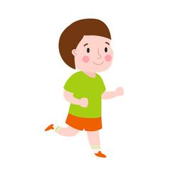 beautiful cartoon boy running fashion look male vector image