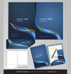Corporate identity business set folder design vector image vector image