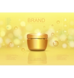 Cosmetic cream container template vector image