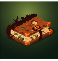 magic forest book cartoon style game design vector image vector image