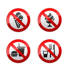 set prohibited signs - foods vector image vector image