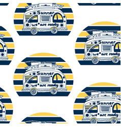 summer van pattern vector image