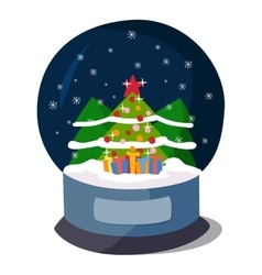 Christmas icon symbol vector image