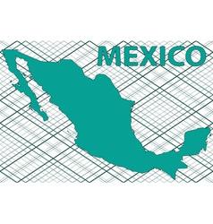 Mexico map vector image vector image