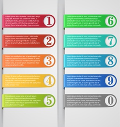 Modern number list infographic banner vector image