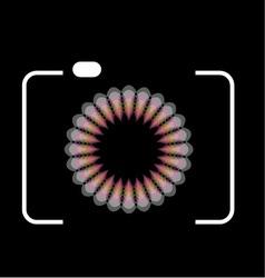 photography logo with cute honeybee vector image