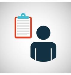 silhouette blue man email envelope message design vector image vector image