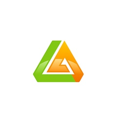 abstract triangle shape technology logo vector image