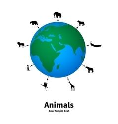 Concept of animal welfare vector image