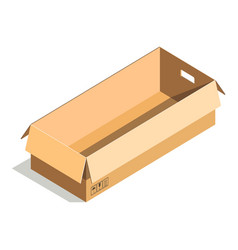 delivery shipping package square rectangular vector image