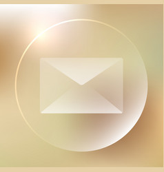 envelope glassy icon envelope glassy icon vector image vector image