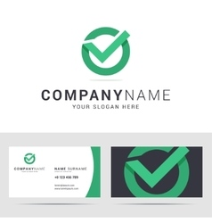 Logo and business card template in flat style vector image vector image