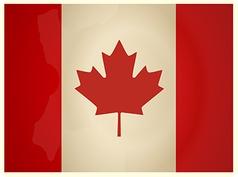 Vintage Canada Flag vector image vector image