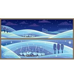 winter landscapes vector image