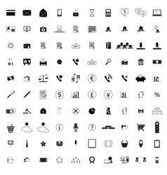 100 company icons vector