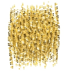 Abstract glitter gold background vector image
