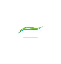 Abstract wave eco logo vector