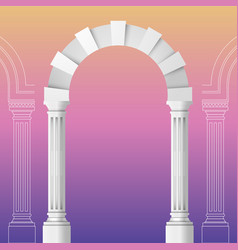 Arch realistic design ancient architecture vector