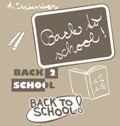 Back to school graphic vector image