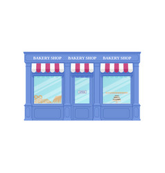 Bakery shop storefront vintage store front vector