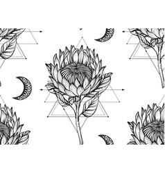 Beautiful seamless pattern romantic vector