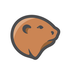 beaver river badger icon cartoon vector image