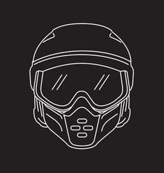 Bikers helmet vector