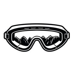 black and white a ski glasses vector image