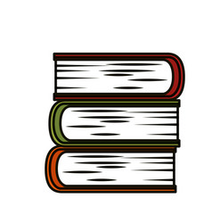 books and education vector image