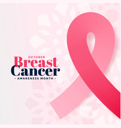 breast cancer awareness october month poster vector image