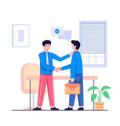 business deal concept flat vector image