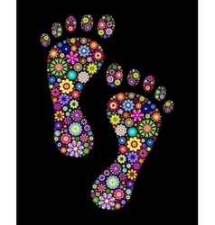 colorful footprints vector image