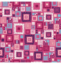 Colorful geometric squares seamless pattern vector