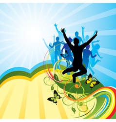 colorful party background vector image vector image