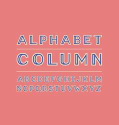 Column color font alphabet vector