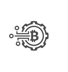 Crypto technology icon vector