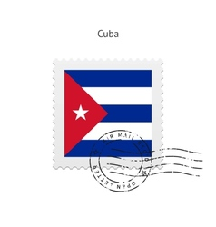 Cuba Flag Postage Stamp vector image