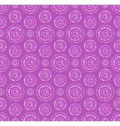 Dots circles seamless pattern in shades of lilac vector image
